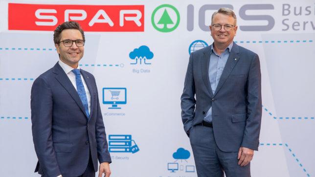 Spar-Vorstand Markus Kaser und Spar ICS-Geschäftsführer Andreas Kranabitl © SPAR/evatrifft