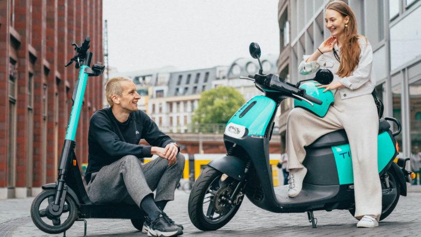 E-Roller und Moped von Tier © Tier