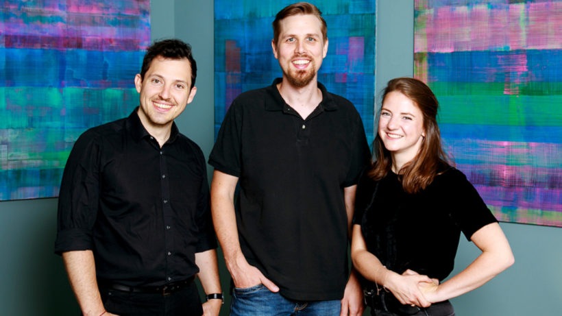 V.l.n.r.: gnista-Gründer Benjamin Mörzinger, Markus Hoffmann und Anna Pölzl © Campfire Solutions