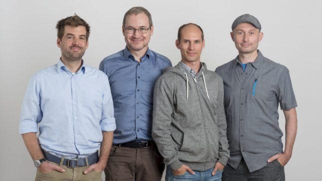 Das Gründungsteam von contextflow: Georg Langs, Allan Hanbury, Markus Holzer, René Donner. © contextflow