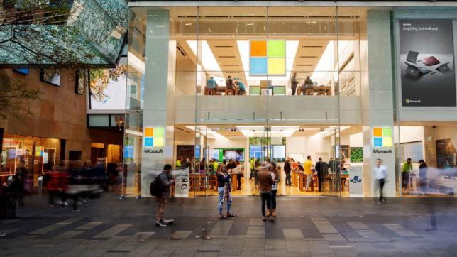 Microsoft Store in Sydney. © Microsoft