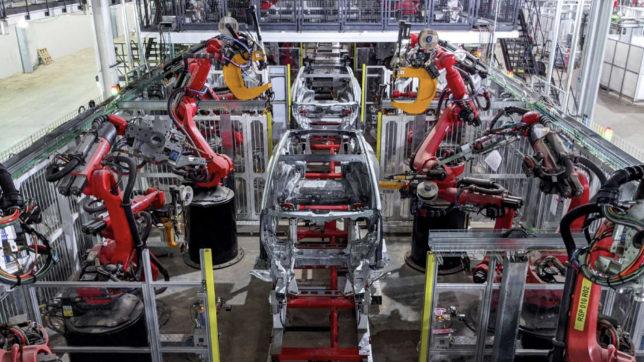 Model Y Produktion in der Gigafactory Texas. © Tesla