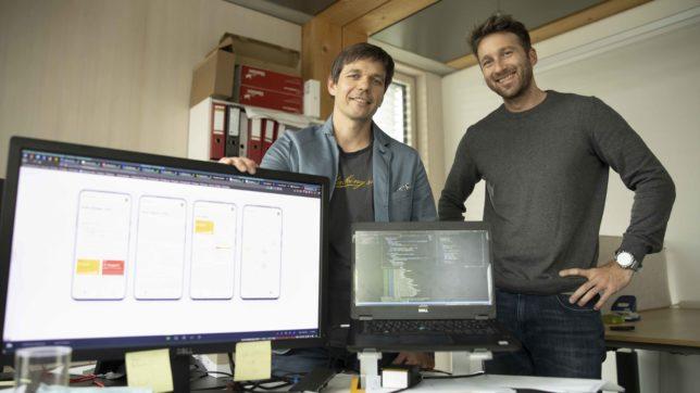 Christoph Klocker und Christoph Blank von Waevs. © Weavs.io