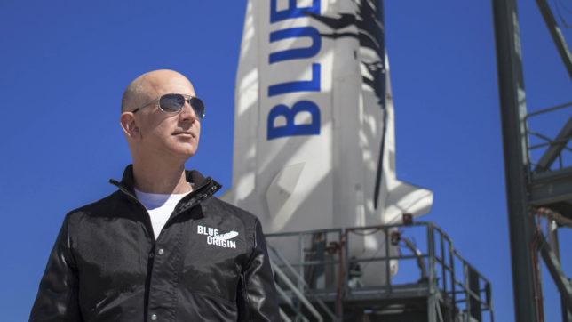 Jeff Bezos, Chef von Amazon und Blue Origin. © Blue Origin