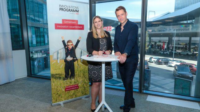 Jaqueline Matijevic, Leitung Innovationsentwicklung bei den ÖBB und Valentin Aschermann, Partner & Head of Innovation bei TheVentury. © Joanna Piestrzynska