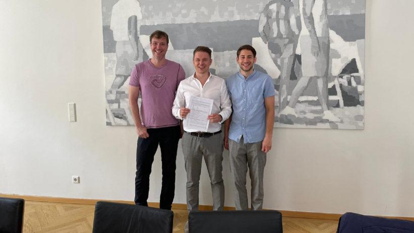 (v.l.n.r.) Cortecs-Gründer Alexander Steiner, Michael Trimmel und Markus Tretzmüller © aws