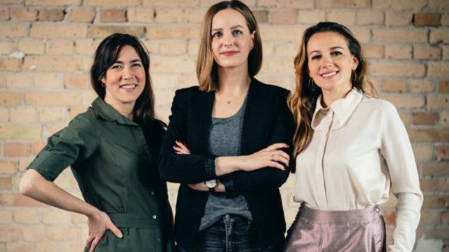(v.l.n.r.) FinMarie-Gründerinnen Leitha Matz, Rica Klitzke und Karolina Decker © PRVA Newcomers