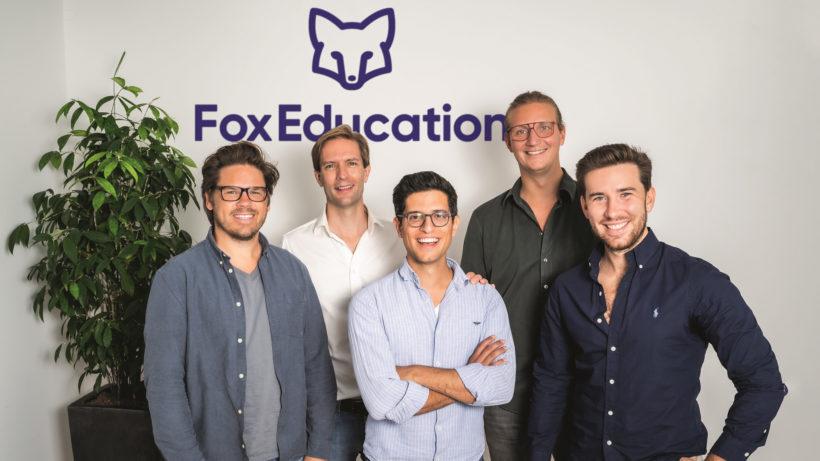 Gründer-Team von Fox Education mit den GoStudent-Gründern © GoStudent