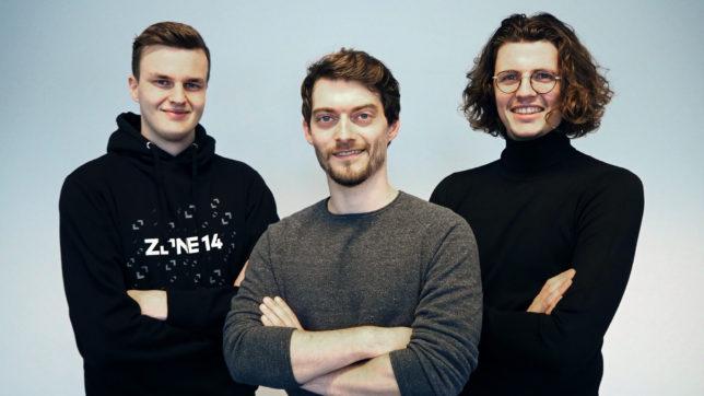 (v.l.n.r.) zone14-Gründer Tobias Gahleitner, Lukas Grömer und Simon Schmiderer © zone14