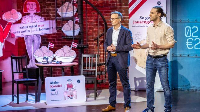 Jausengeld-Gründer Michael Kirchmair und Stefan Schober © PULS 4_Gerry Frank