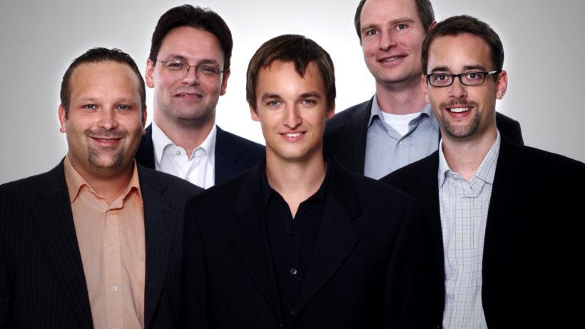 Das Gründungs-Team von Open Networks 2008. Oben Networks