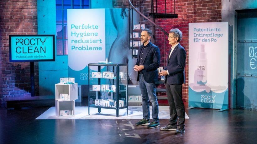 ProctyClean-Gründer Bernhard Moss und Ludwig Römhild © Puls 4/Gerry Franke