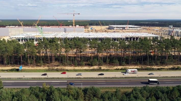 Die Tesla-Baustelle in Brandenburg. © ZDF/Frank Vieltorf