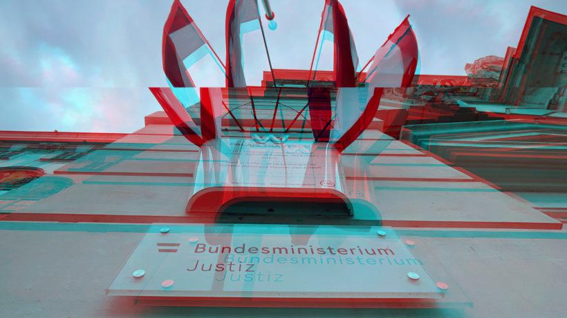 Vor dem Justizministerium in Wien. © Trending Topics