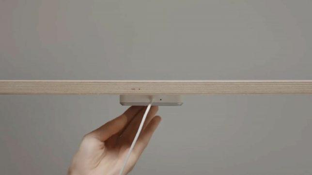 Sjömärke: Ikea-Ladepad lädt Geräte durch Tisch hindurch © Ikea