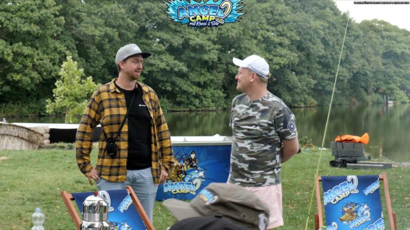 Stream.tv-CEO Thomas Rafelsberger (links) neben Knossi vor Ort am Angelcamp 2.0 © STREAM.TV