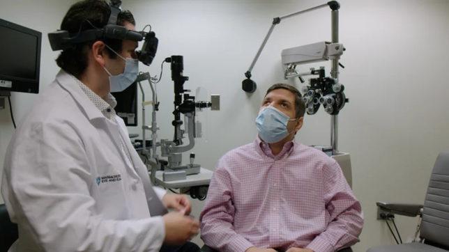 Untersuchung im Rahnen von CRISPR-Experiment © Massachusetts Eye and Ear